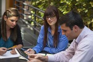 Photo of students studying for the PMP exam.