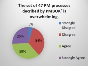 """The Set of 47 PM Processes Described by the PMBOK Guide is Overwhelming."""