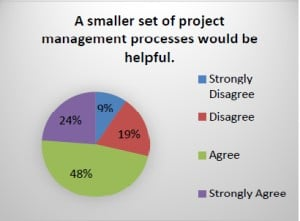 """A smaller set of project management processes would be helpful."""